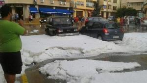 Espectacular granizada en Teruel