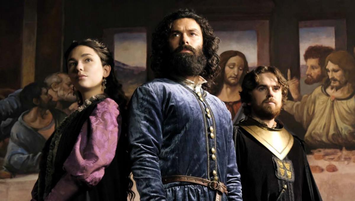 Póster oficial de la serie donde se muestra a los tres protagonistas