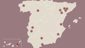 Mapa dels rebrots del coronavirus a Espanya