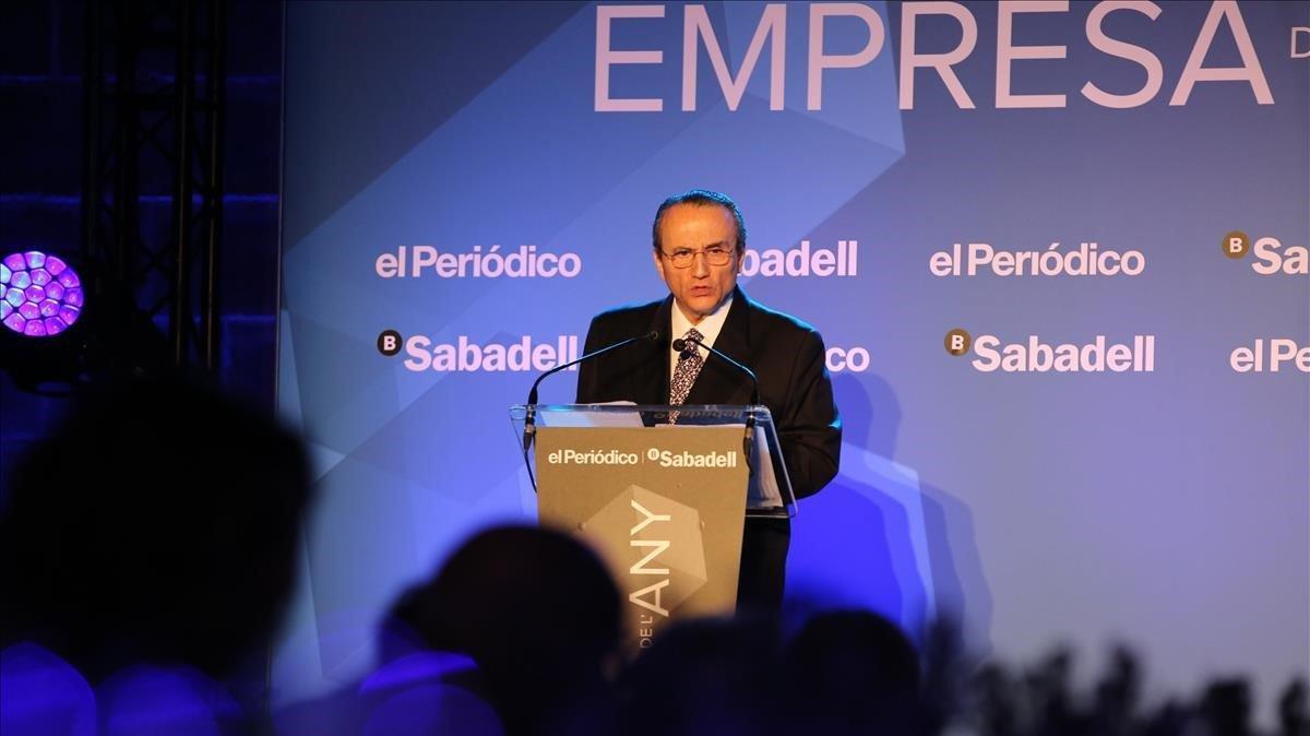 El Presidente de Prensa Ibérica, Javier Moll, ante los invitados.