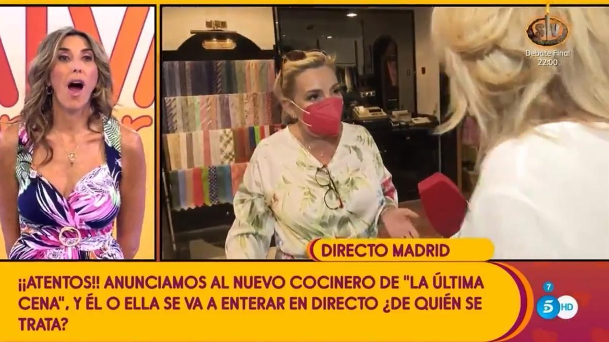 Carmen Borrego serà la pròxima concursant de 'La última cena' a Telecinco
