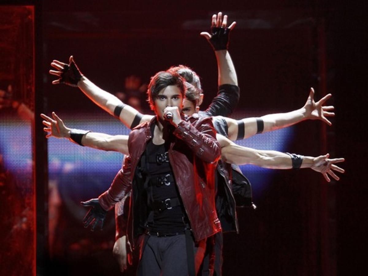 El representante de Suecia en Eurovision, Eric Saade.