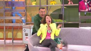 Jorge Javier pega un susto a María Patiño