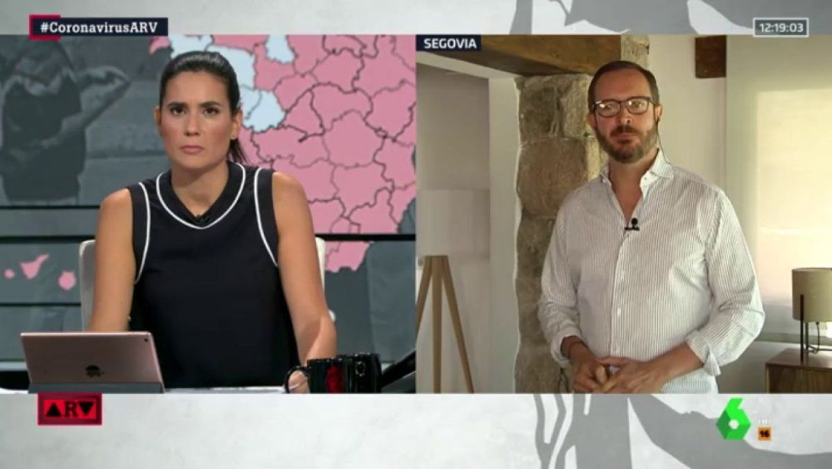 María Llapart y Javier Maroto en 'Al rojo vivo'.