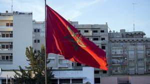 01/02/2017 Bandera de Marruecos.