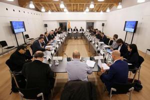 HACE UN AÑO Puigdemont presidió esta reunión del Diplocat el 24 de noviembre del 2016.