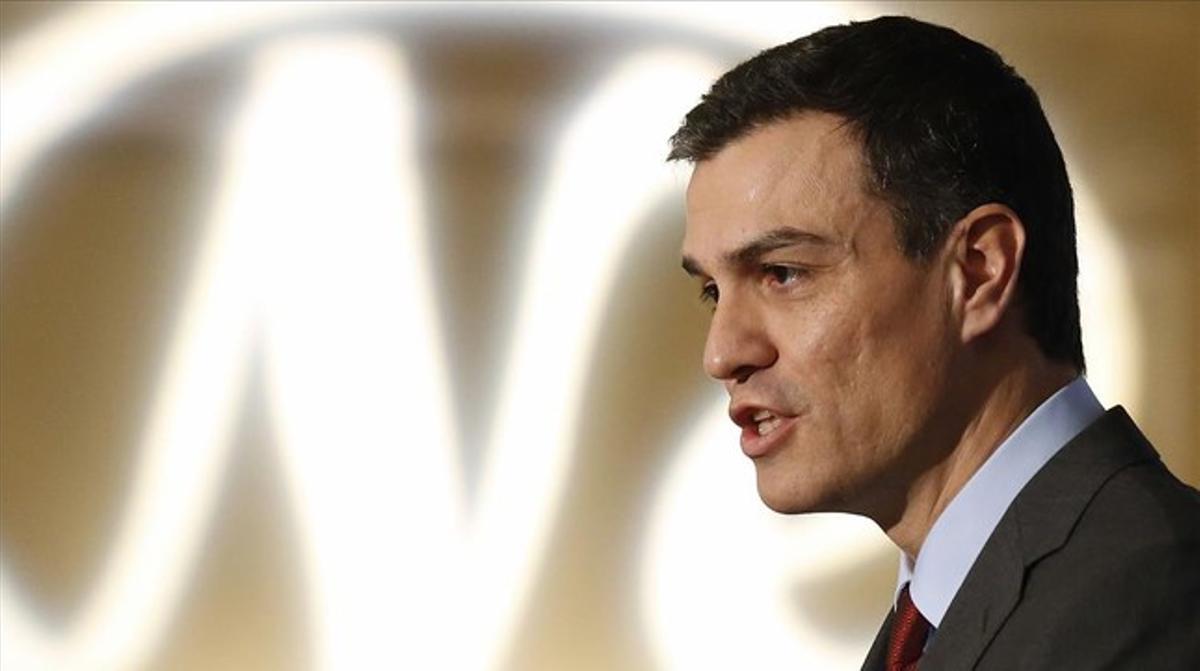 Sánchez, durante la presentación del alcalde de Valladolid, este martes en Madrid