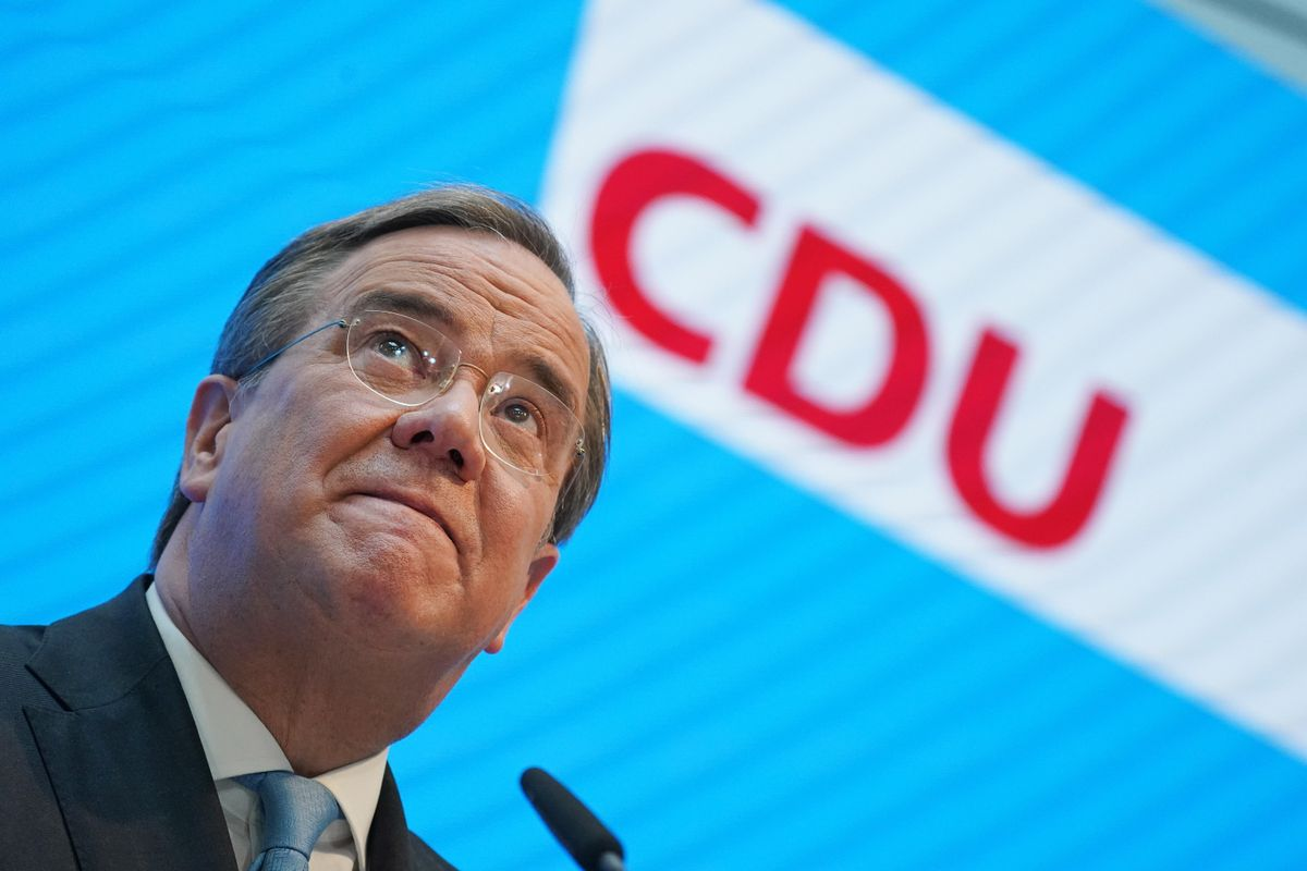 Armin Laschet, tras ser confirmado como candidato a ser canciller de Alemania por los conservadores.