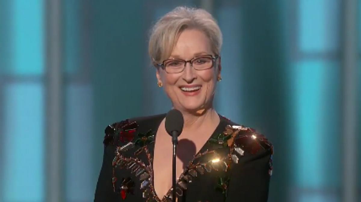 Meryl Streep le dedicó varios dardos a Donald Trump sin nombrarlo ni una vez en su discurso en los Globos de Oro 2017.