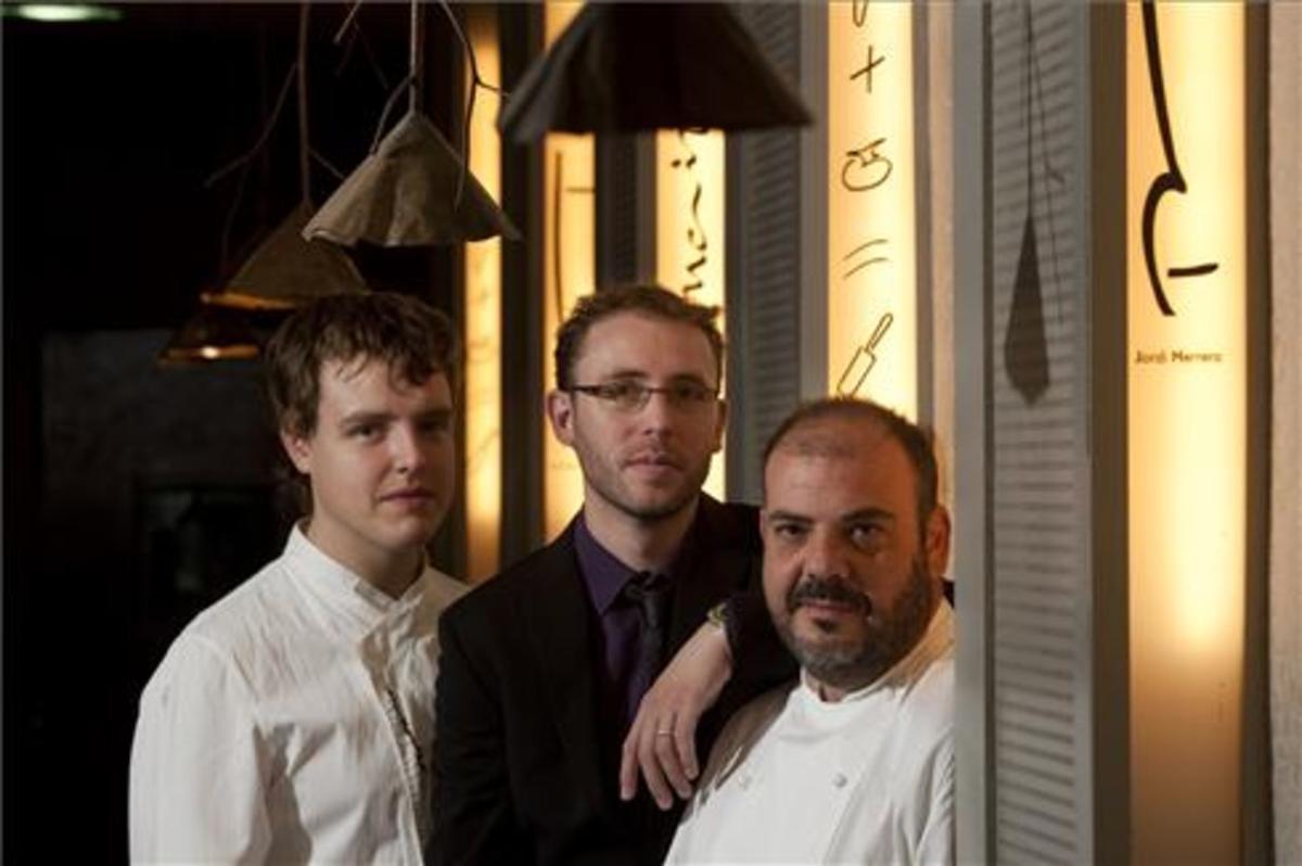 Manuel López, Roger Viña y Jordi Herrera en Manairó. Foto: Albert Bettran