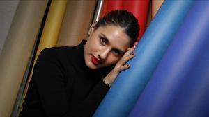 La cantante Sabela Ramil, en su visita a Barcelona.
