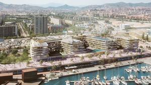 Imagen virtual del proyecto del nuevo Hard Rock Hotel Barcelona.