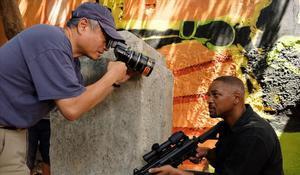Ang Lee y Will Smith, en el escenario de rodaje de 'Gemini man'.