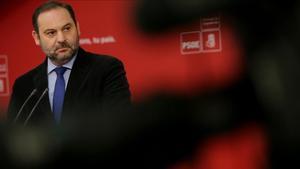 José Luis Ábalos, durante una rueda de prensa.