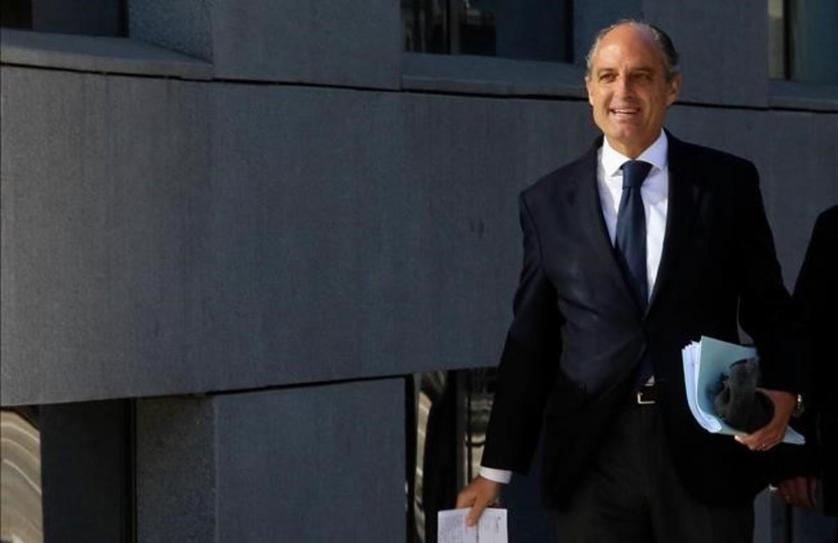 El exvicepresidente valenciano Francisco Camps, el pasado marzo, cuando declaró como testigo en el 'caso Gürtel'.