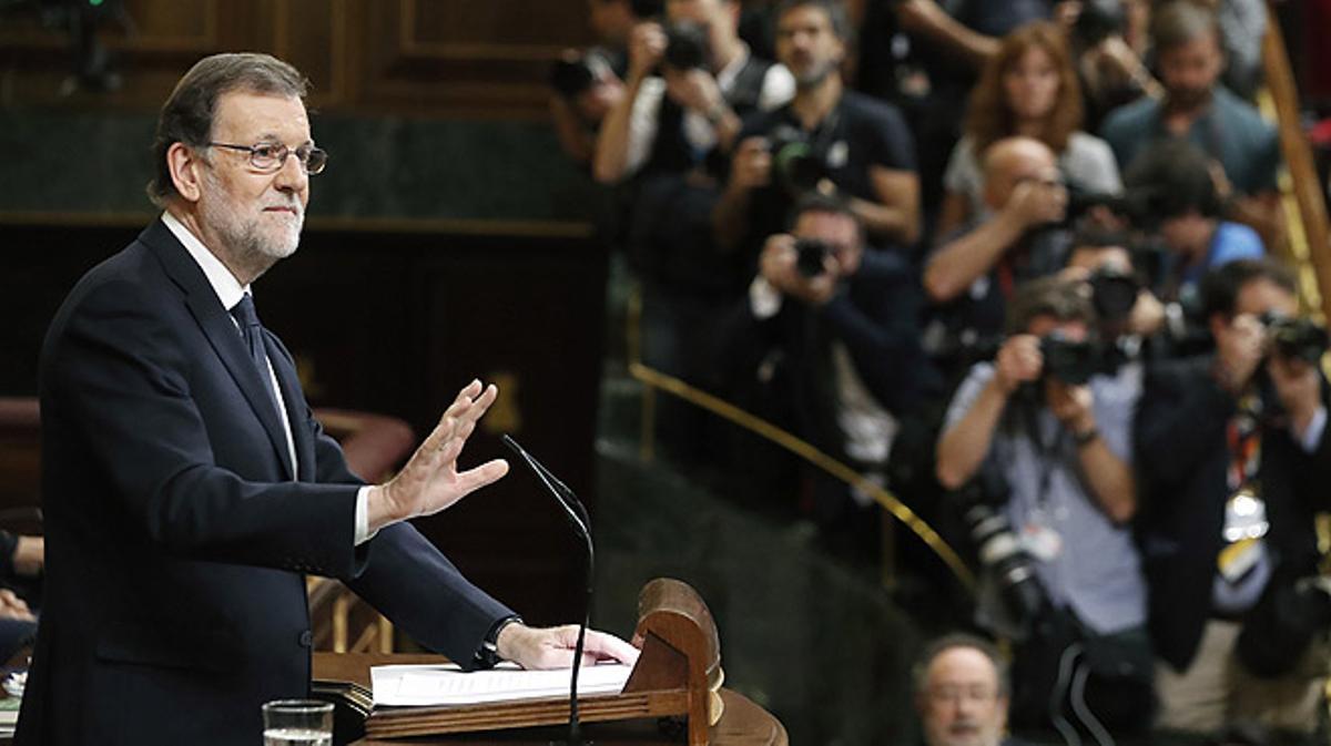 """Mariano Rajoy: """"No pido la luna, señorías, pido un Gobierno previsible""""."""