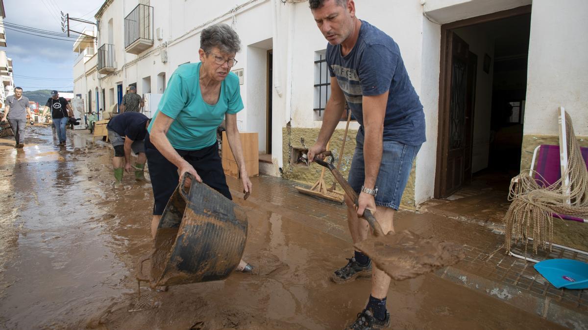 Inundaciones en la zona de Alcanar