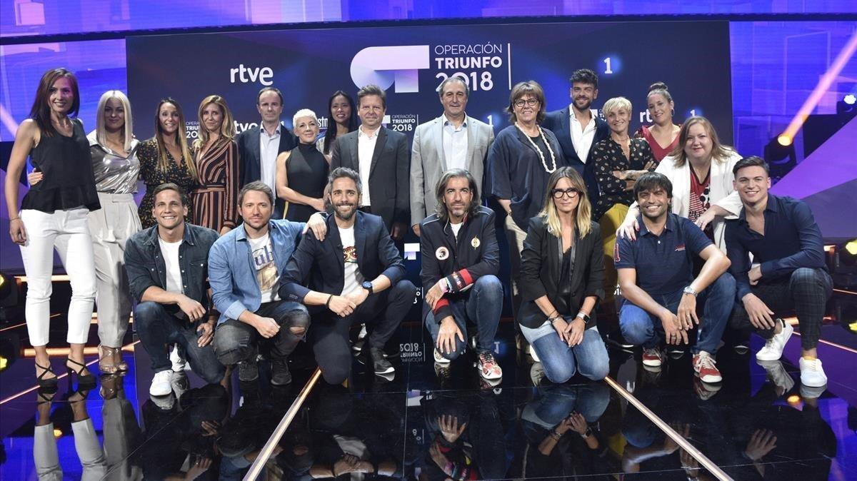 Equipo de 'Operación Triunfo', uno de los programas de TVE con quejas por su día de emisión.