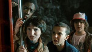 Escena de la primera temporada de la serie 'Stranger Things'.