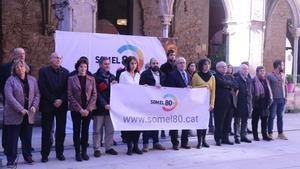 Presentación de la plataforma 'Som el 80%', promovida por Òmnium Cultural.