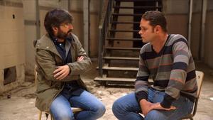 Jordi Evole charla con Romano Van der Dussen, durante el 'Salvados' del domingo en La Sexta.