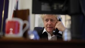 El primer ministre del Regne Unit, Boris Johson, al seu despatx.
