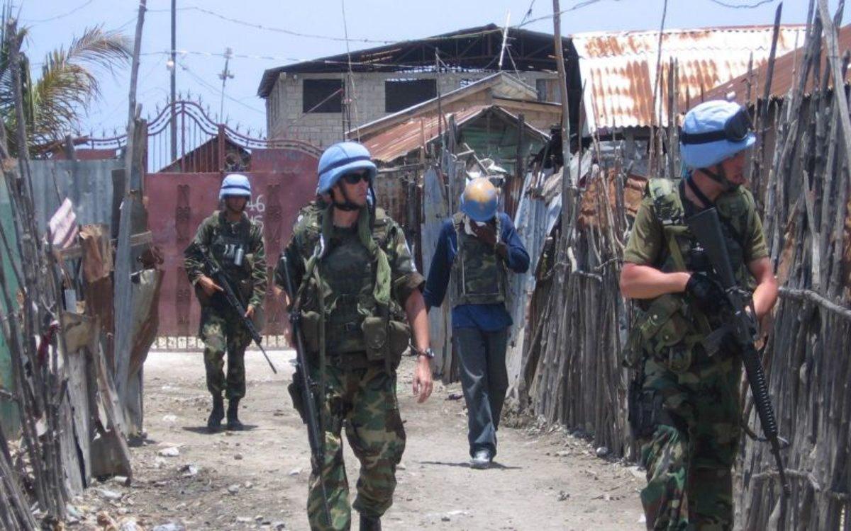 Una unidad de los cascos azules de la ONU.