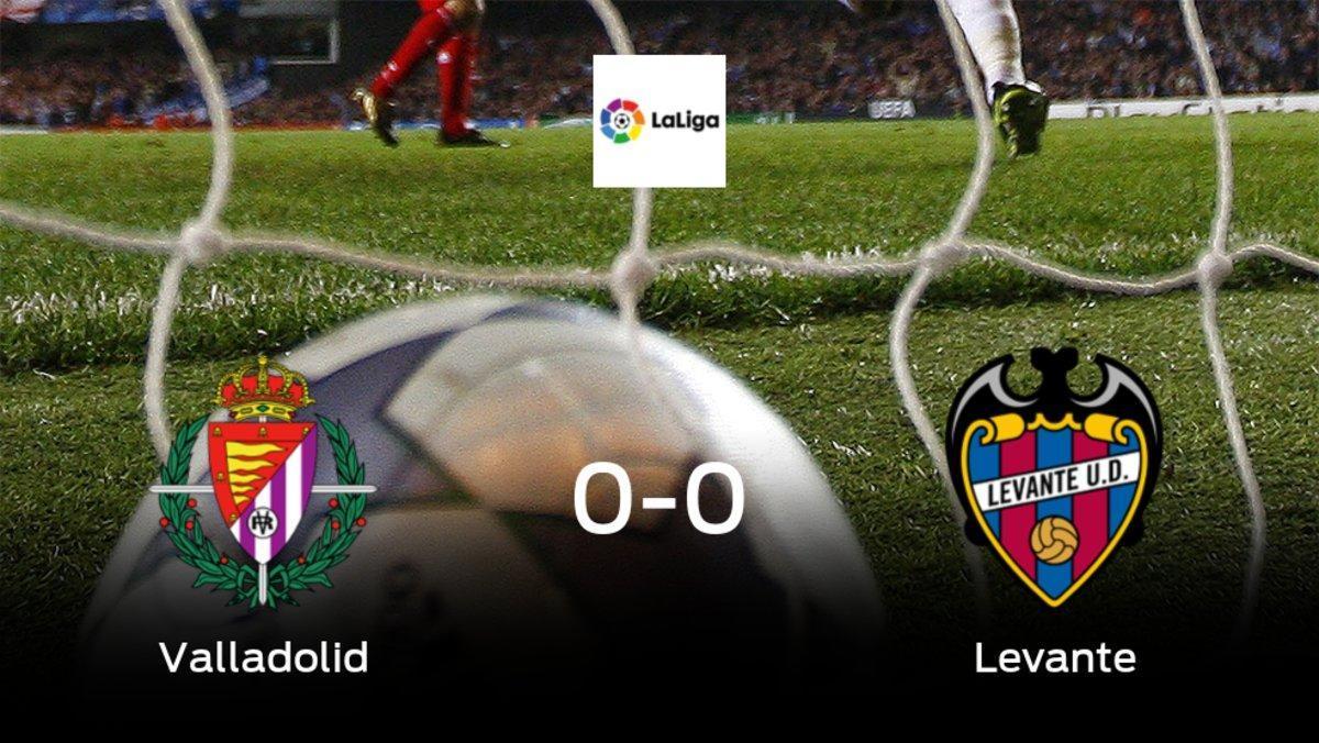 El Real Valladolidy el Levantese reparten los puntos en el Municipal José Zorrilla (0-0)