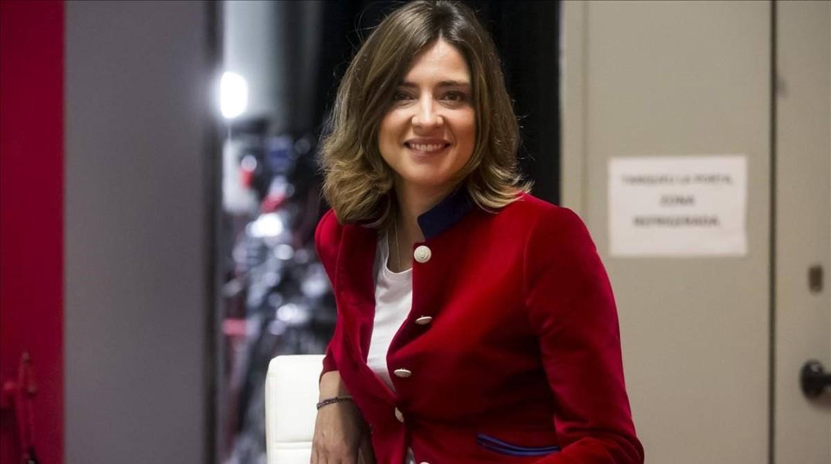 Sandra Barneda durante la presentacion de su último libro 'Hablarán de nosotras'.