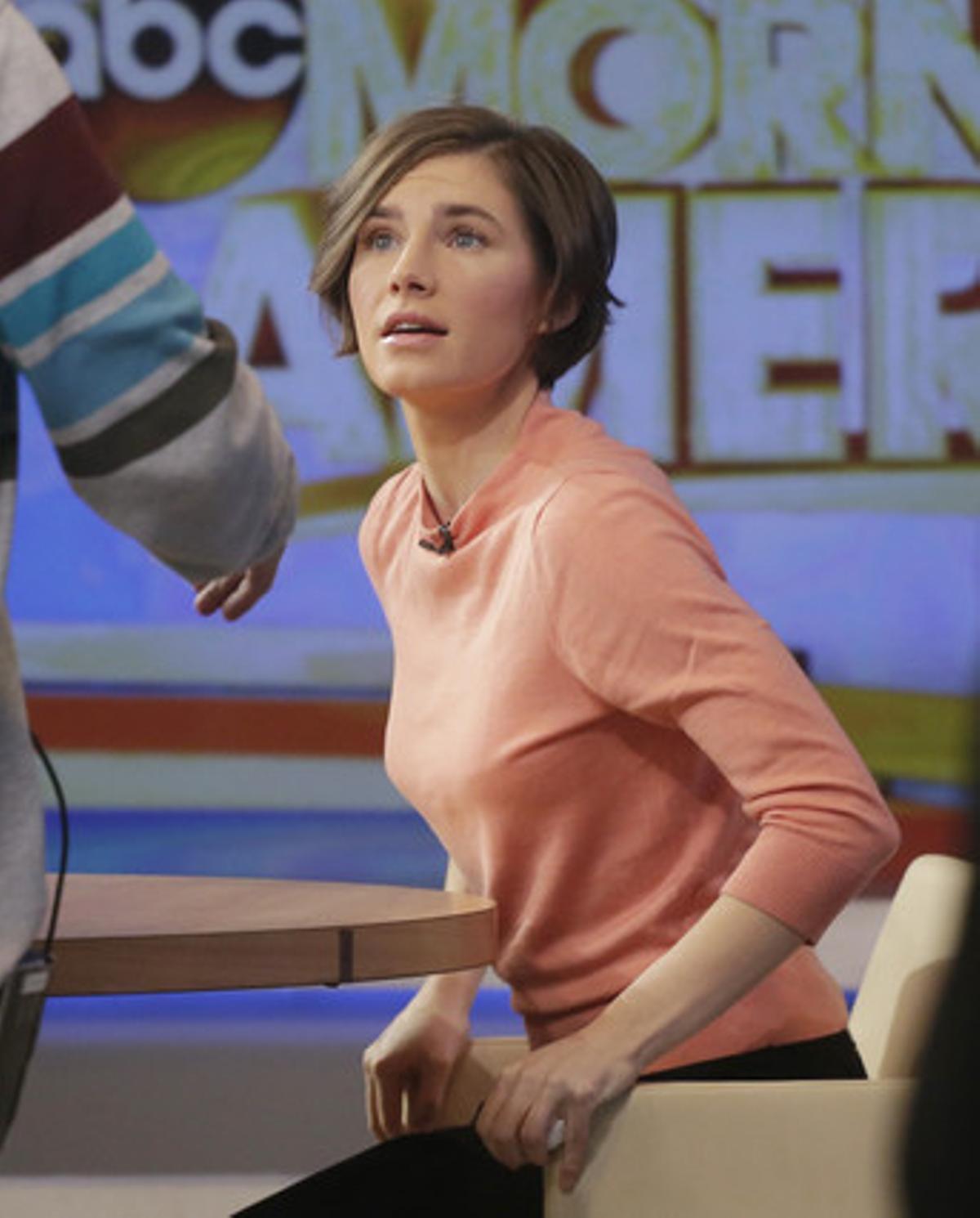 Amanda Knox, durante una entrevista en la ABC, el pasado mes de enero.