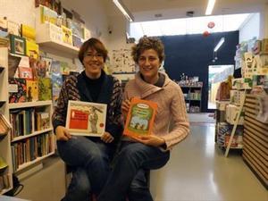 Diana Riba, la pareja de Raül Romeva, en una foto tomada en su librería en el 2013.