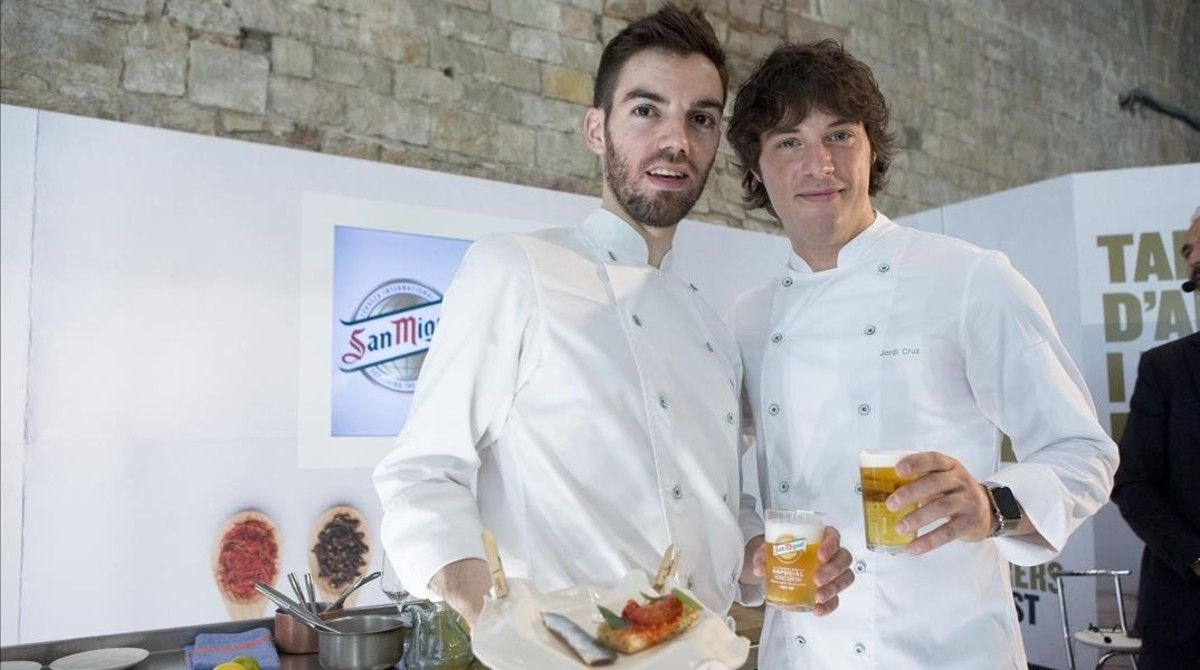 Jordi Cruz y David Andrés, del restaurante ABaC de Barcelona.