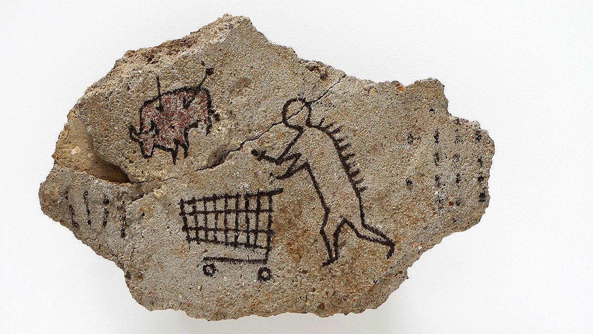 Obra de arte 'rupestre' de Banksy.