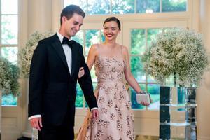 Una imagen de la boda de Miranda Kerr y Evan Spiegel publicada por la modelo en su cuenta de Instagram.