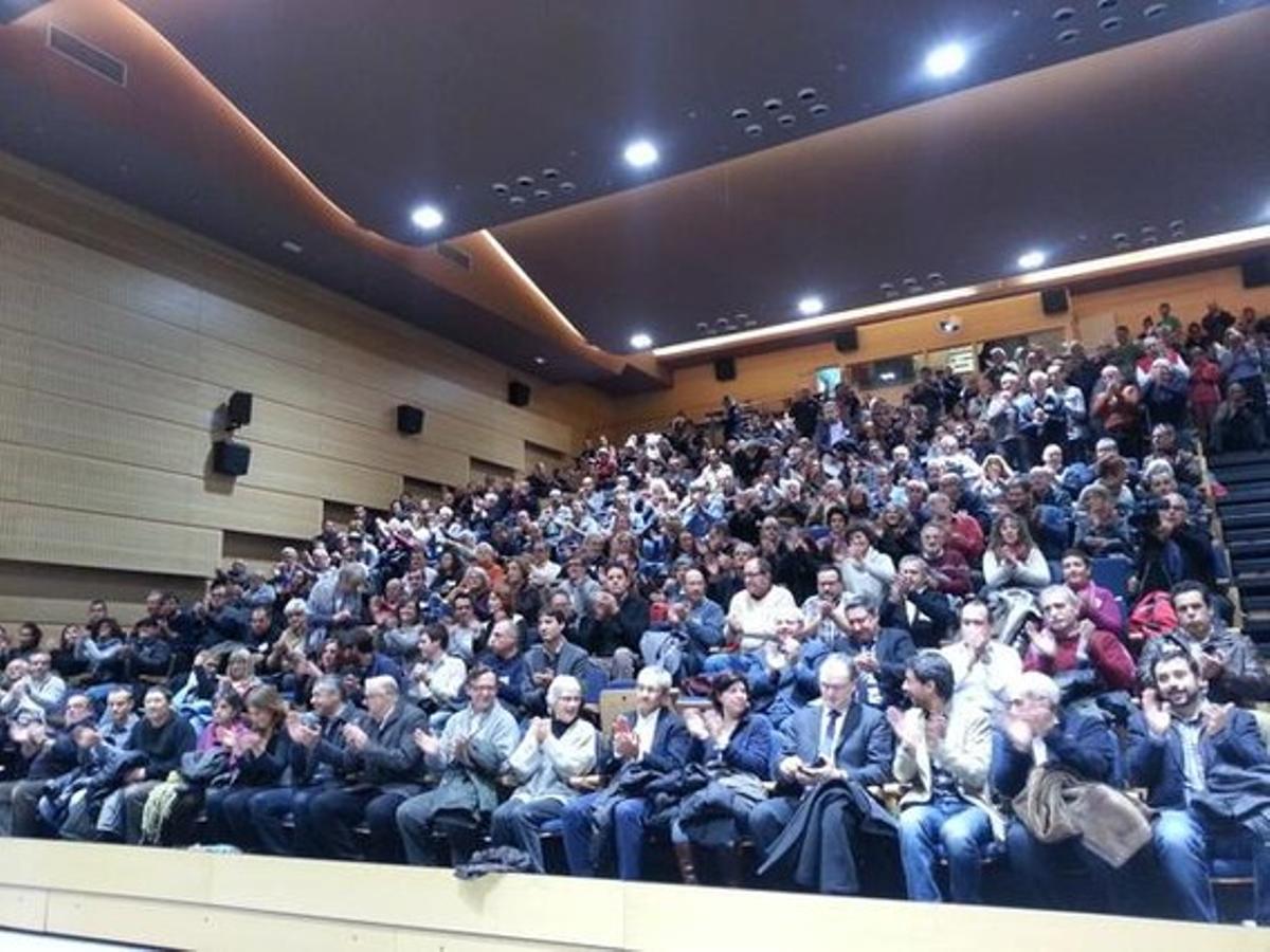 Asamblea de la ANC en Seva, este sábado.
