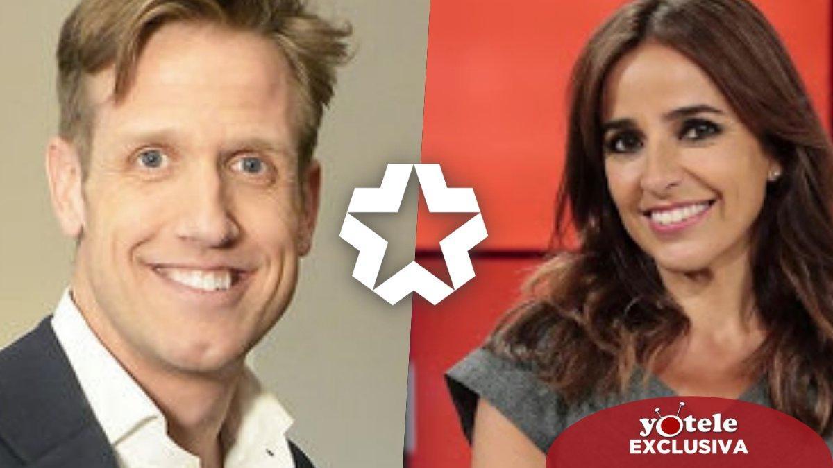Óscar Martínez y Carmen Alcayde, presentadores de 'Dos en la carretera', el nuevo programa de Telemadrid.