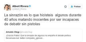 Ciudadanos carga contra Otegi y hurga en el apoyo que le da Unidos Podemos
