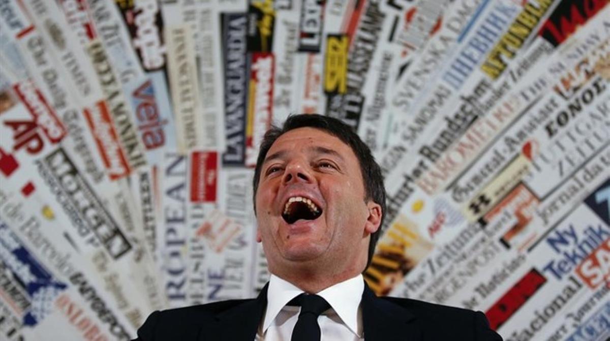 Matteo Renzi, durante una rueda de prensa, el 22 de febrero.