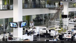 Imagen de la redacción de los servicios informativos de la televisión autonómica ETB, en Bilbao.