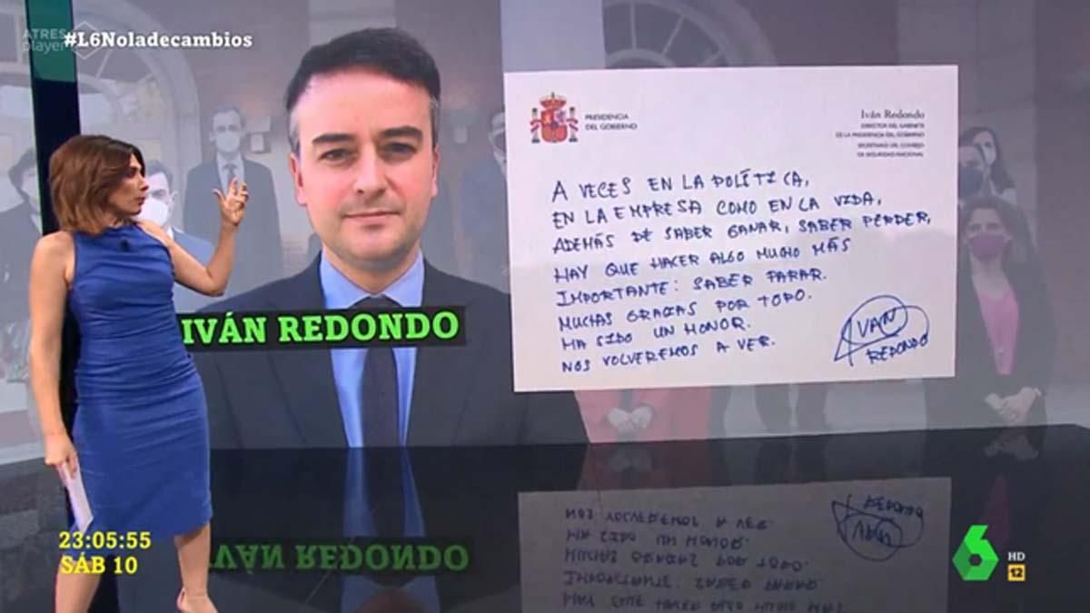 TELEVISION Ferran Monegal La sexta noche caso Iván Redondo