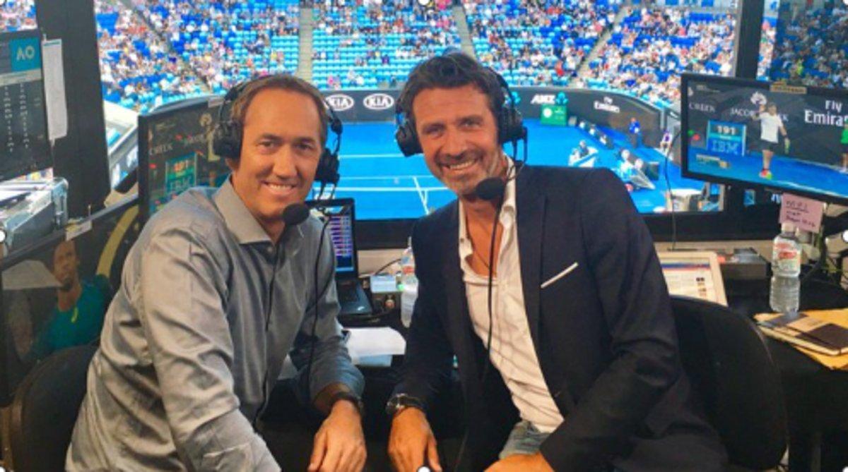 Patrick Mouratoglou (derecha), entrenador de Serena, y promotor de la idea