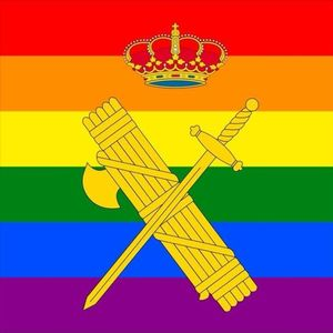 Nueva foto de perfilde la Guardia Civil en Twitter (@guardiacivil) con motivo del Día del Orgullo LGTBI+.