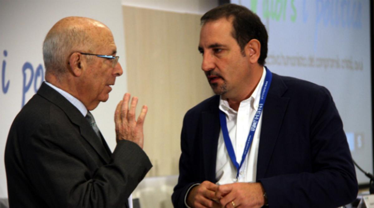 Ramon Espadaler, conseller d'interior y presidente del Consell Nacional de UDC, en la inauguración de la jornada de UDC 'Valores y política'.