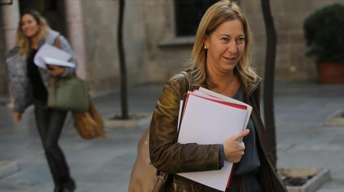 Munté, en la Generalitat, en un día de reunión del Consell Executiu.