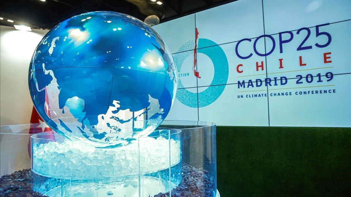 Uno de los pabellones de la Cumbre del Clima de Madrid.