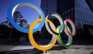 Monumento a los Juegos Olímpico, en Tokio, este jueves.
