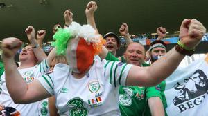 Aficionados irlandeses en Burdeos.