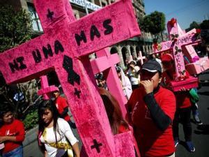 Protestas por asesinatos de mujeres y violencia de género.