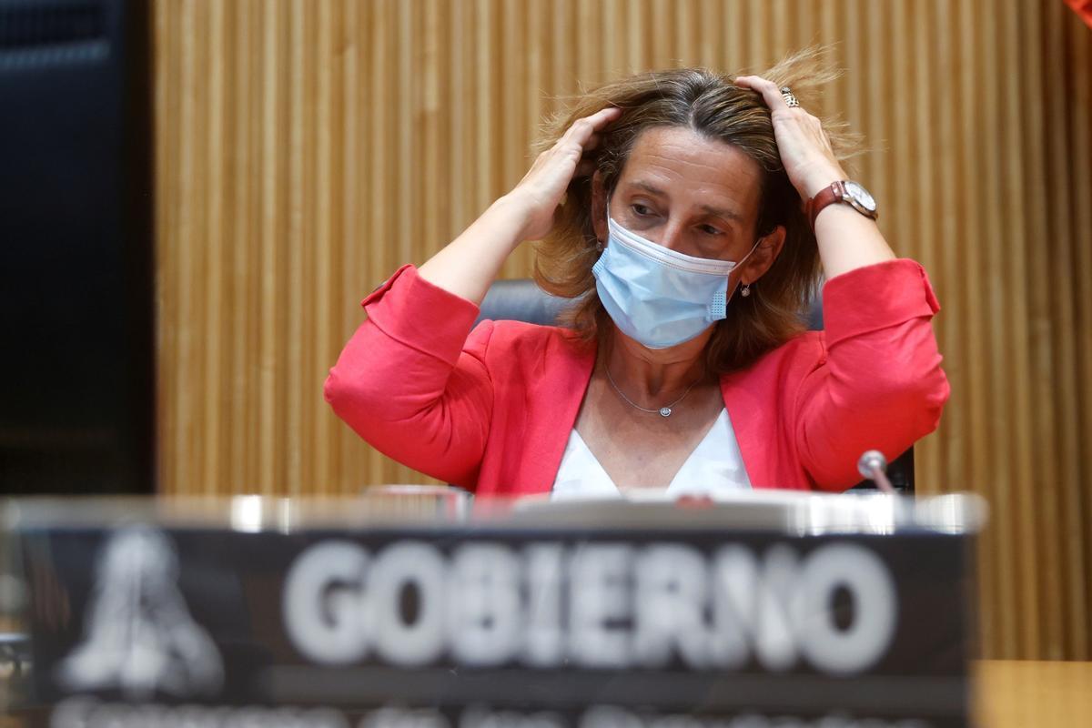 La vicepresidenta tercera y ministra para la Transición Ecológica y el Reto Demográfico, Teresa Ribera, el pasado 30 de agosto de 2021 durante su comparecencia en comisión en el Congreso.