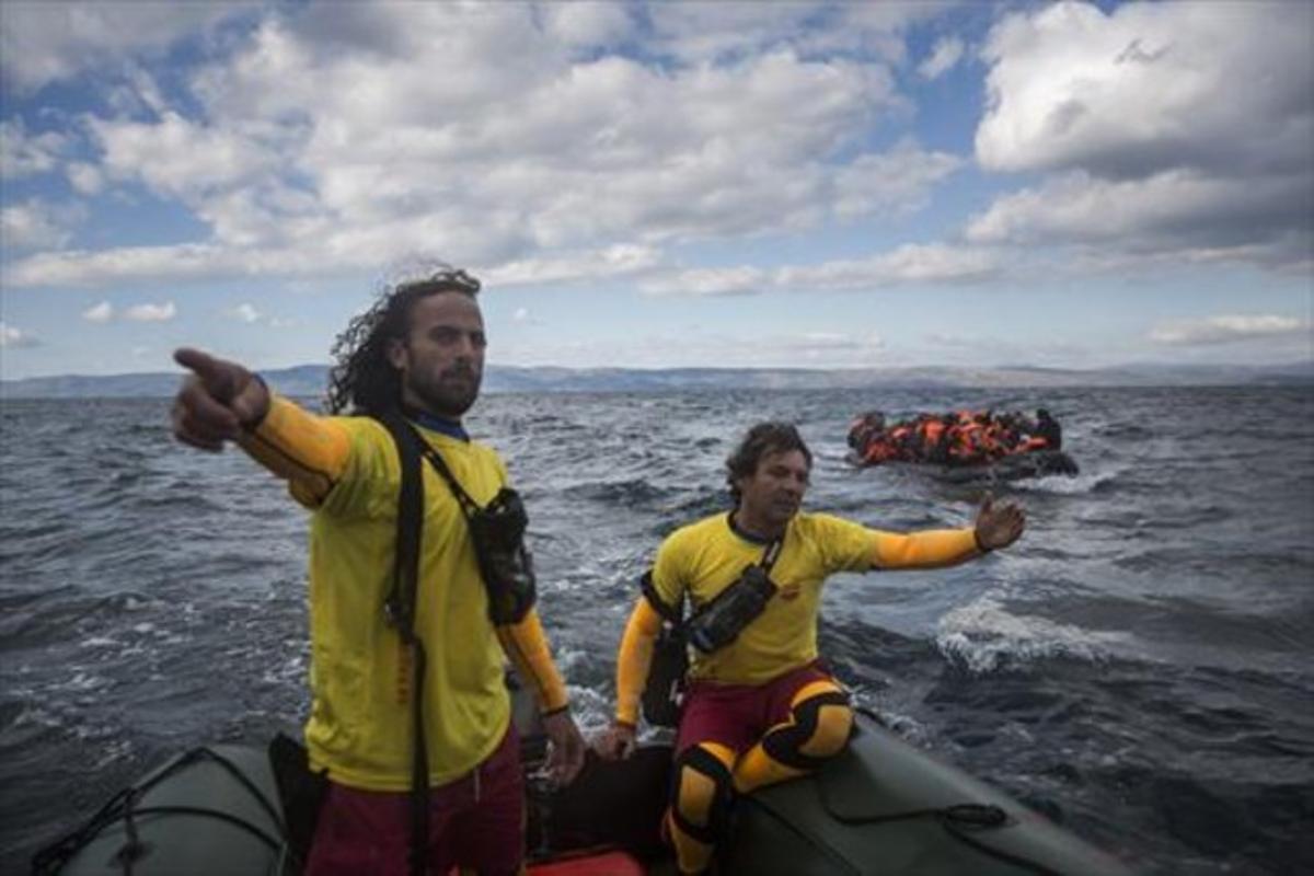 El socorrista de Badalona que salva vidas en el Egeo